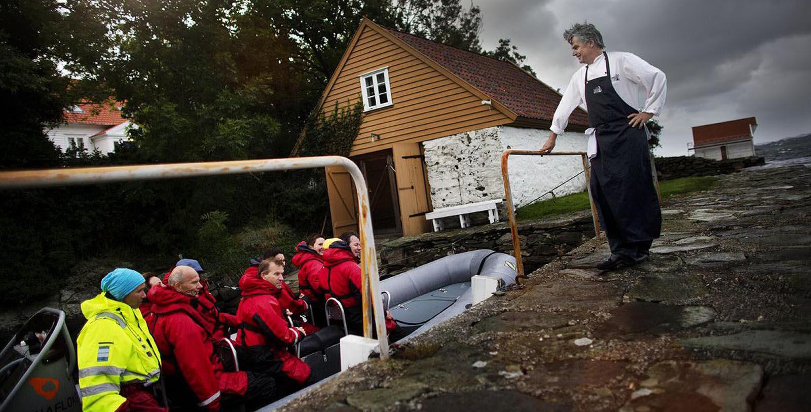 Image of Guests on Boat Høyevarde Fyrhotell, 1700, Member of Historic Hotels Worldwide, in Havik, Norway, Explore