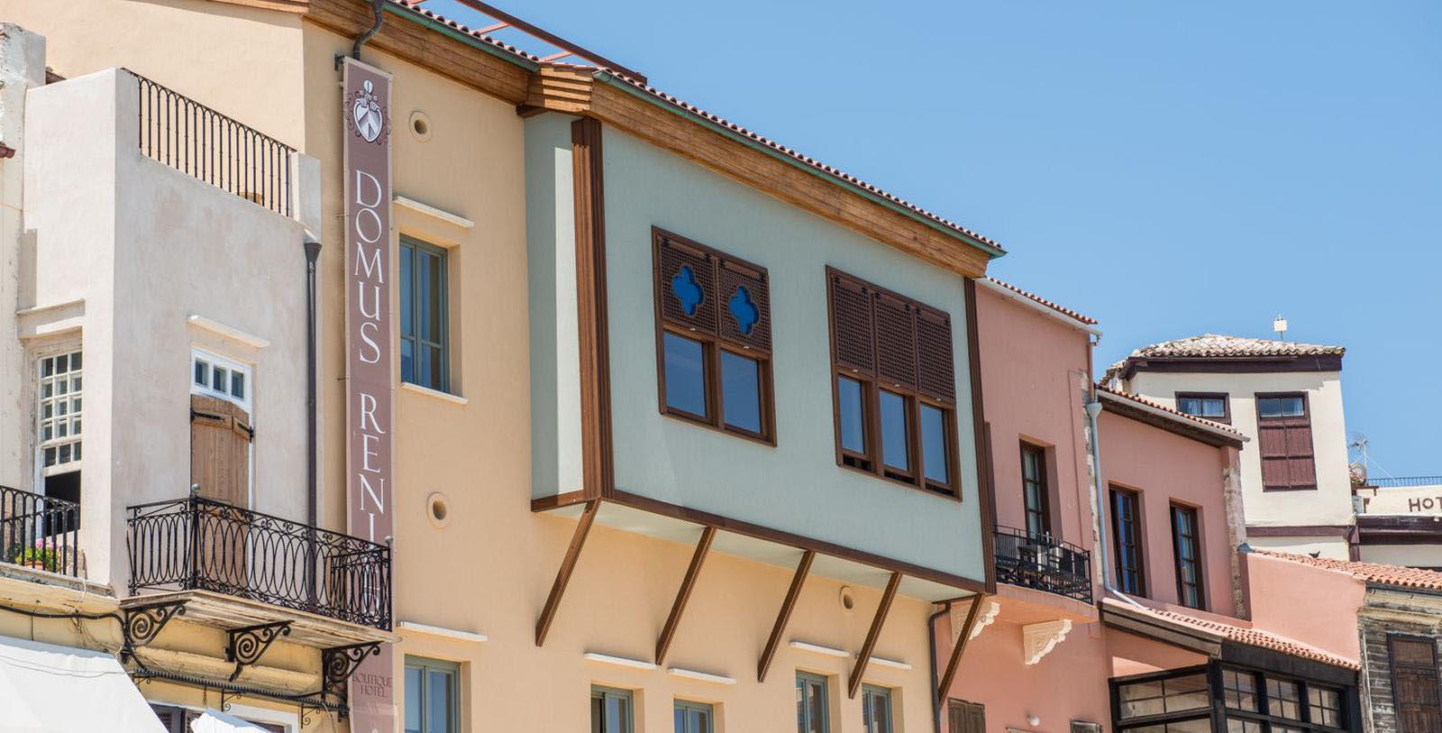 Image of hotel exterior Domus Renier Boutique Hotel, 1608, Member of Historic Hotels Worldwide, in Chania, Greece, Special Offers, Discounted Rates, Families, Romantic Escape, Honeymoons, Anniversaries, Reunions