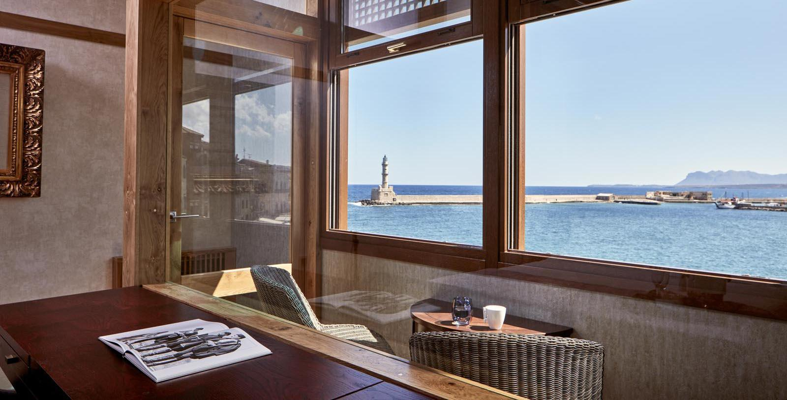 Image of view from hotel restaurant Domus Renier Boutique Hotel, 1608, Member of Historic Hotels Worldwide, in Chania, Greece, Experience