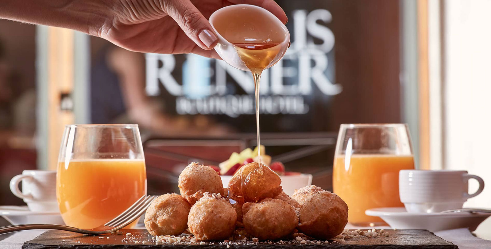 Image of loukoumades at Domus Renier Boutique Hotel, 1608, Member of Historic Hotels Worldwide, in Chania, Greece, Taste