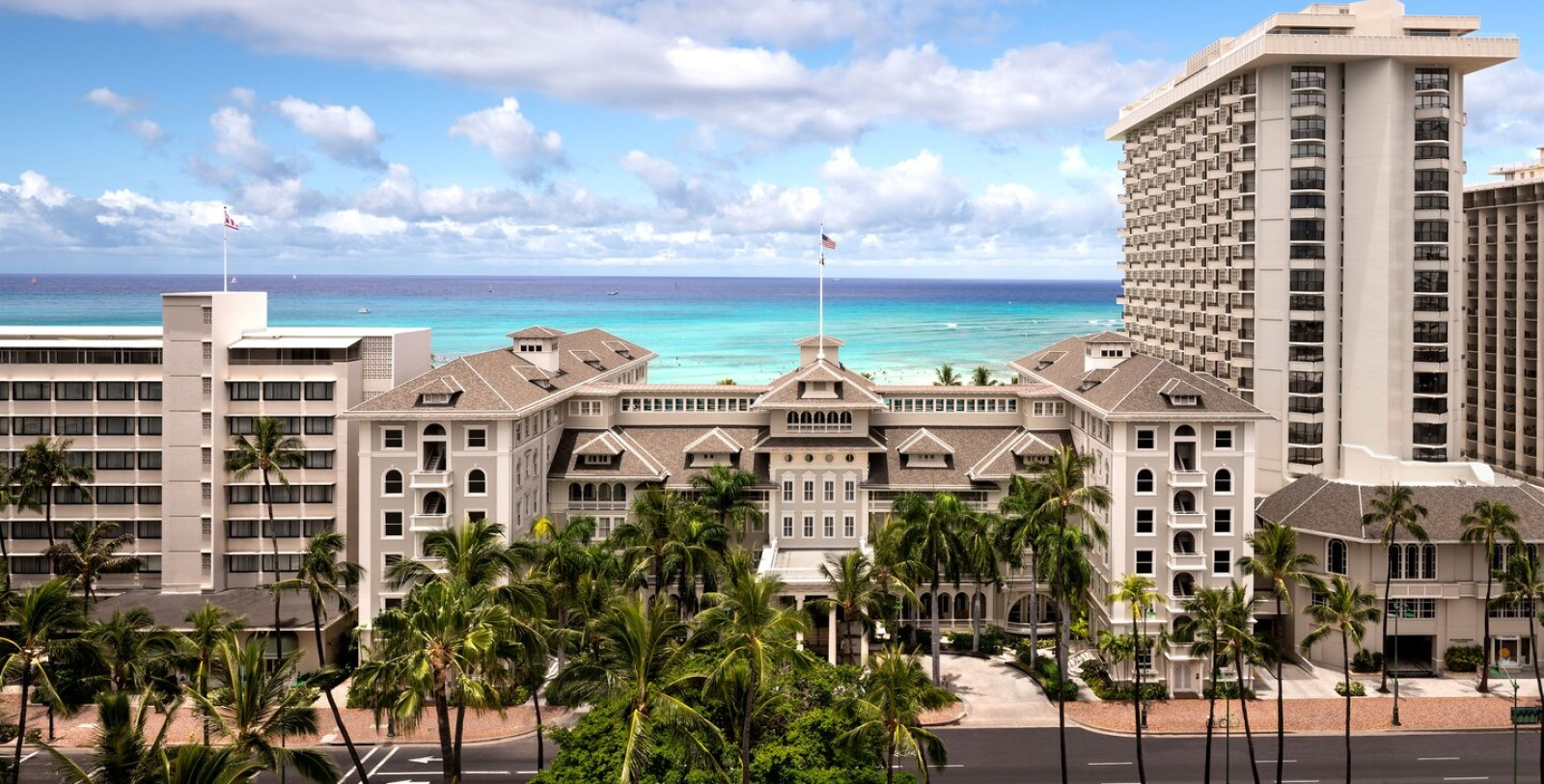 Image of Exterior & Ocean View, Moana Surfrider, A Westin Resort & Spa, Honolulu, Hawaii, 1901, Member of Historic Hotels of America, Overview