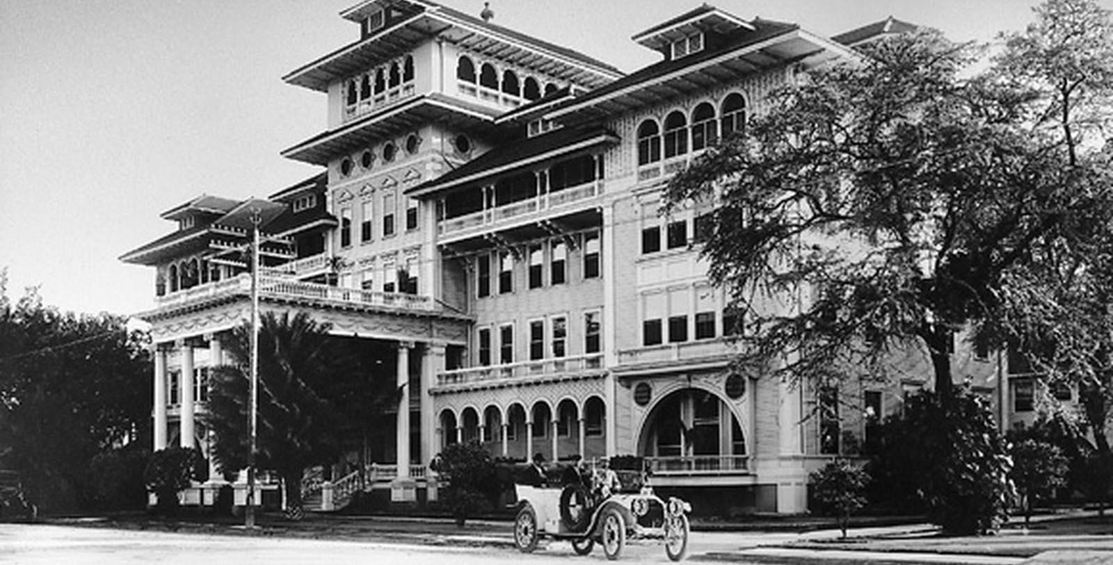 Image of Historic Exterior, Moana Surfrider, A Westin Resort & Spa, Honolulu, Hawaii, 1901, Member of Historic Hotels of America, Discover