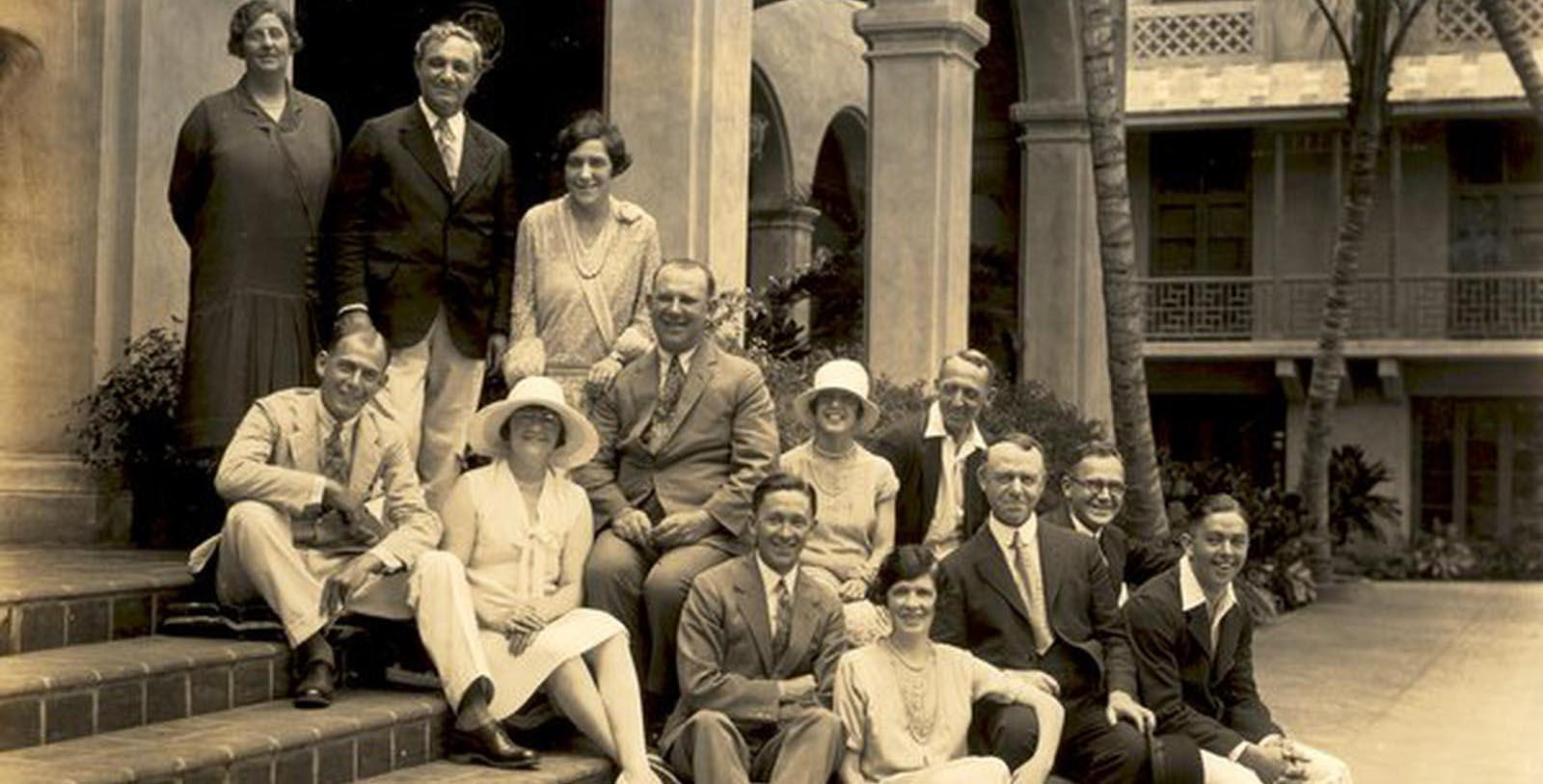 Historic Image of Guests at The Royal Hawaiian, A Luxury Collection Resort, 1927, Member of Historic Hotels of America, in Honolulu, Hawaii, Discover