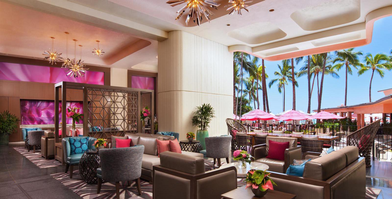 Image of Hotel Lounge at The Royal Hawaiian, A Luxury Collection Resort, 1927, Member of Historic Hotels of America, in Honolulu, Hawaii, Explore