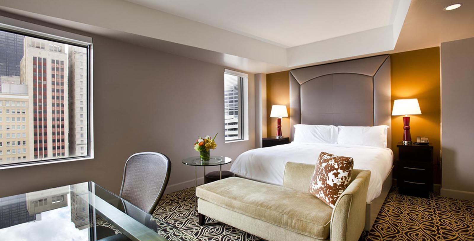 Image of Guestroom at The Sam Houston Hotel, 1924, Member of Historic Hotels of America, in Houston, Texas, Location Map