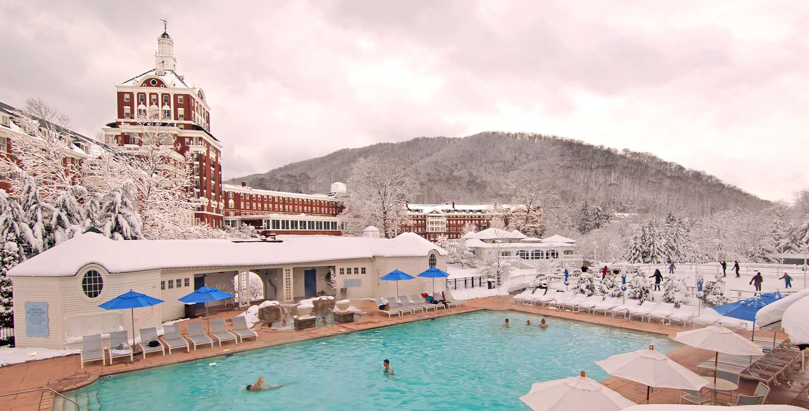 Image of Outdoor Pool at The Omni Homestead Resort, 1766, Member of Historic Hotels of America, in Hot Springs, Virginia, Explore