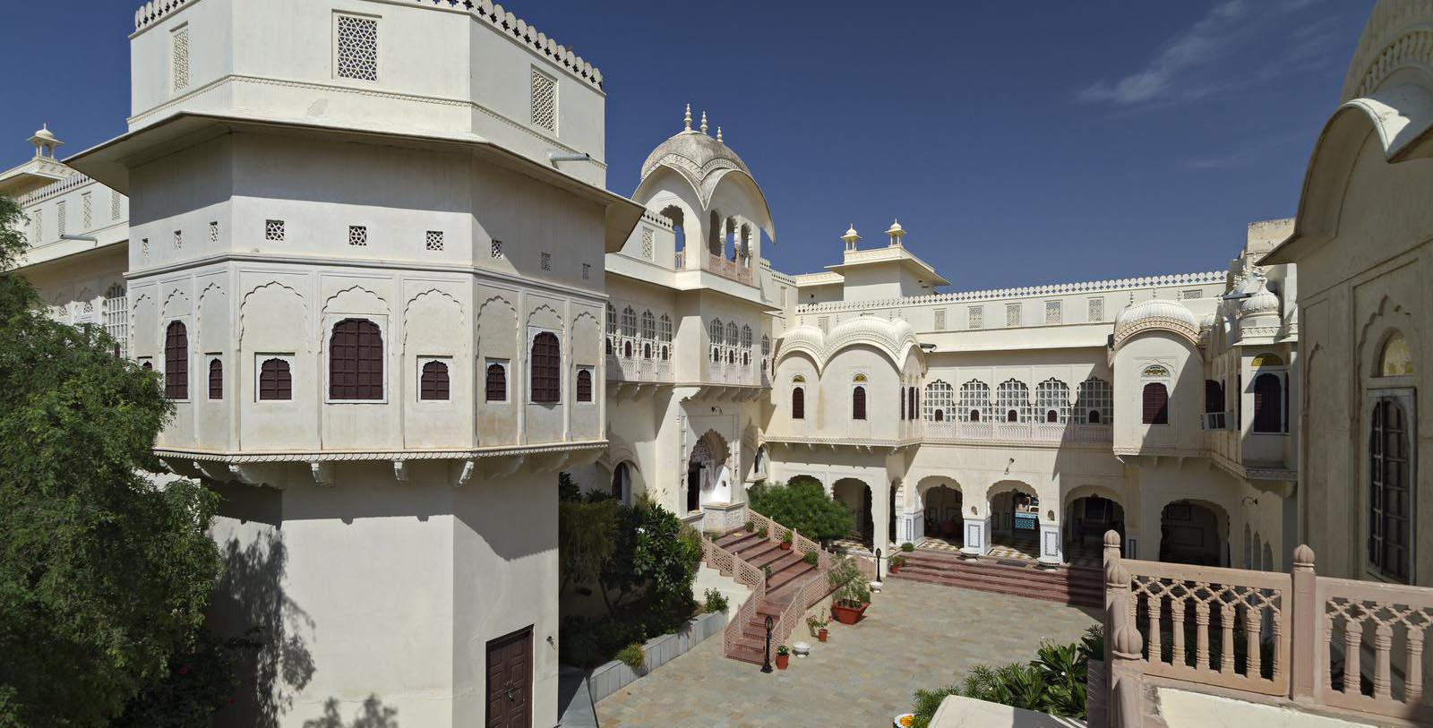 Image of hotel exterior Alsisar Mahal, 1800s, Member of Historic Hotels Worldwide, in Jhunjhunu, India, Special Offers, Discounted Rates, Families, Romantic Escape, Honeymoons, Anniversaries, Reunions