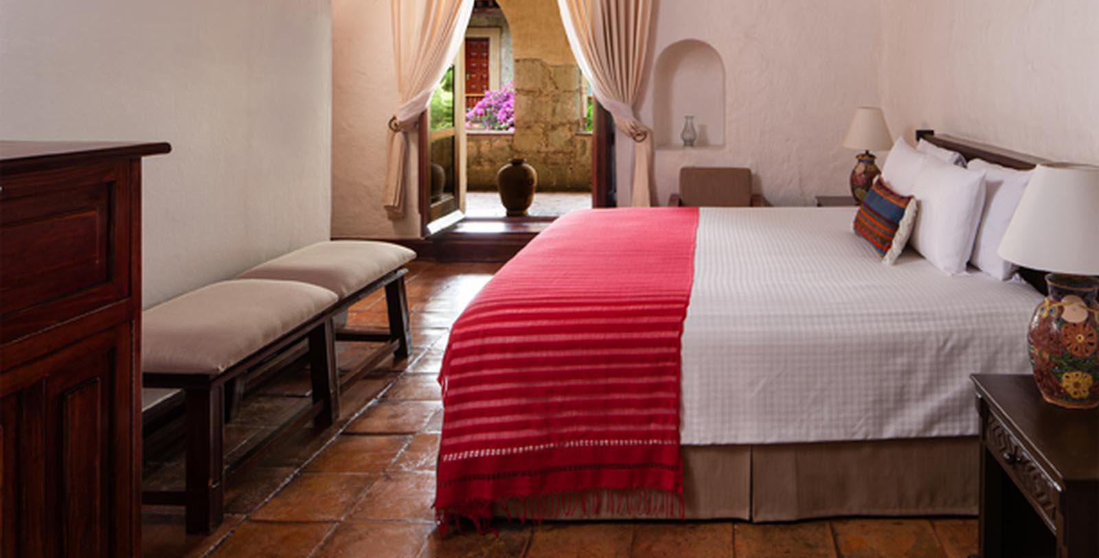 Image of Guestroom Interior Quinta Real Oaxaca, 1576, Member of Historic Hotels Worldwide, in Oaxaca, Mexico, Location