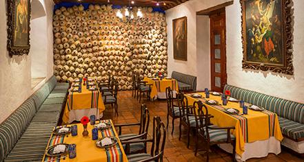 Dining at      Quinta Real Oaxaca  in Oaxaca