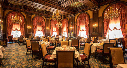 Dining at      HOTEL DU PONT  in Wilmington