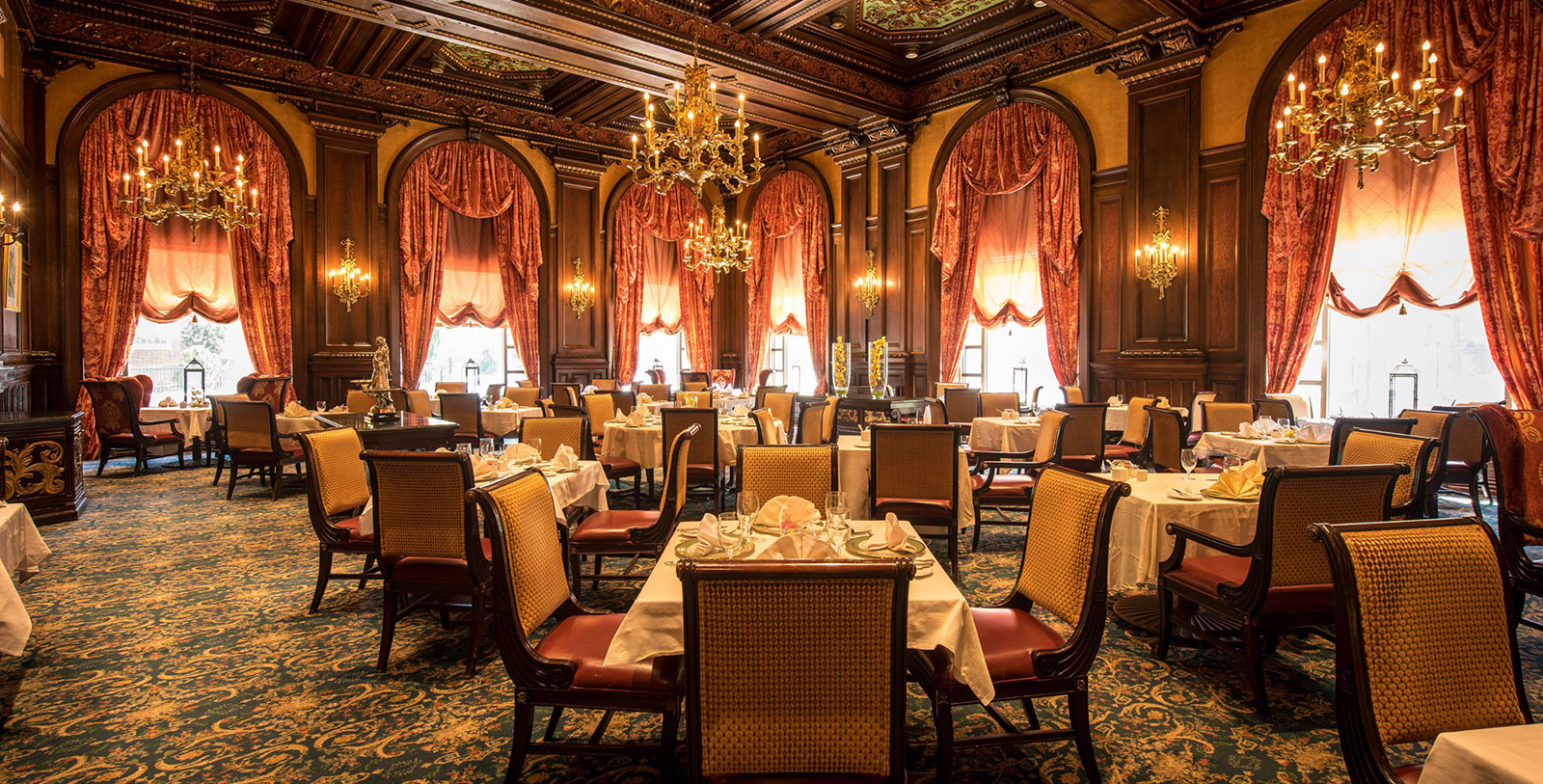 Image of Green room dining room HOTEL DU PONT, 1913, Member of Historic Hotels of America, in Wilmington, Delaware, Taste