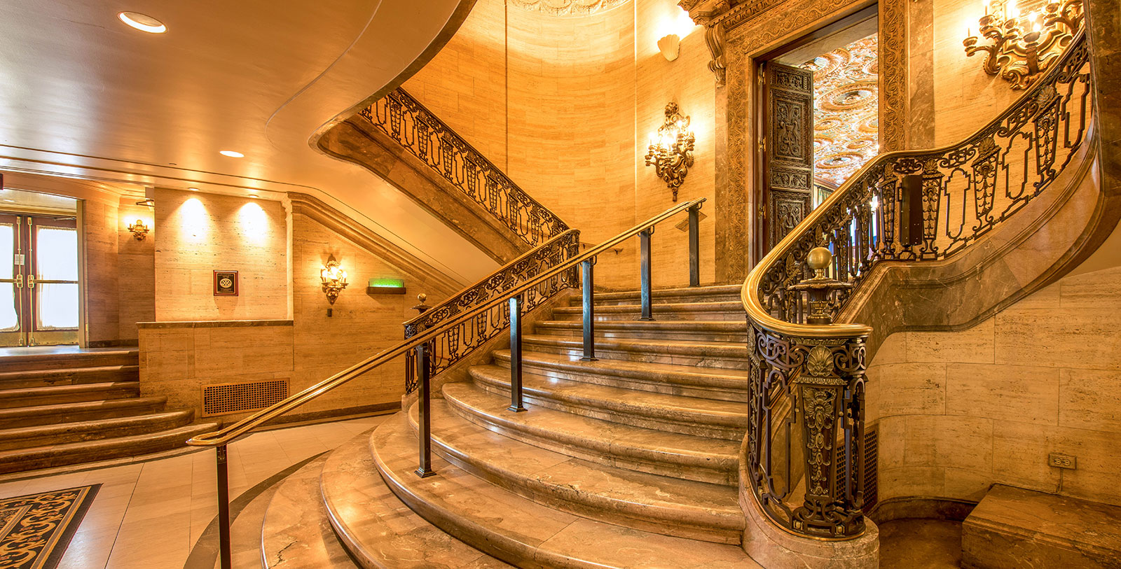 Image of staircase HOTEL DU PONT, 1913, Member of Historic Hotels of America, in Wilmington, Delaware, Experience
