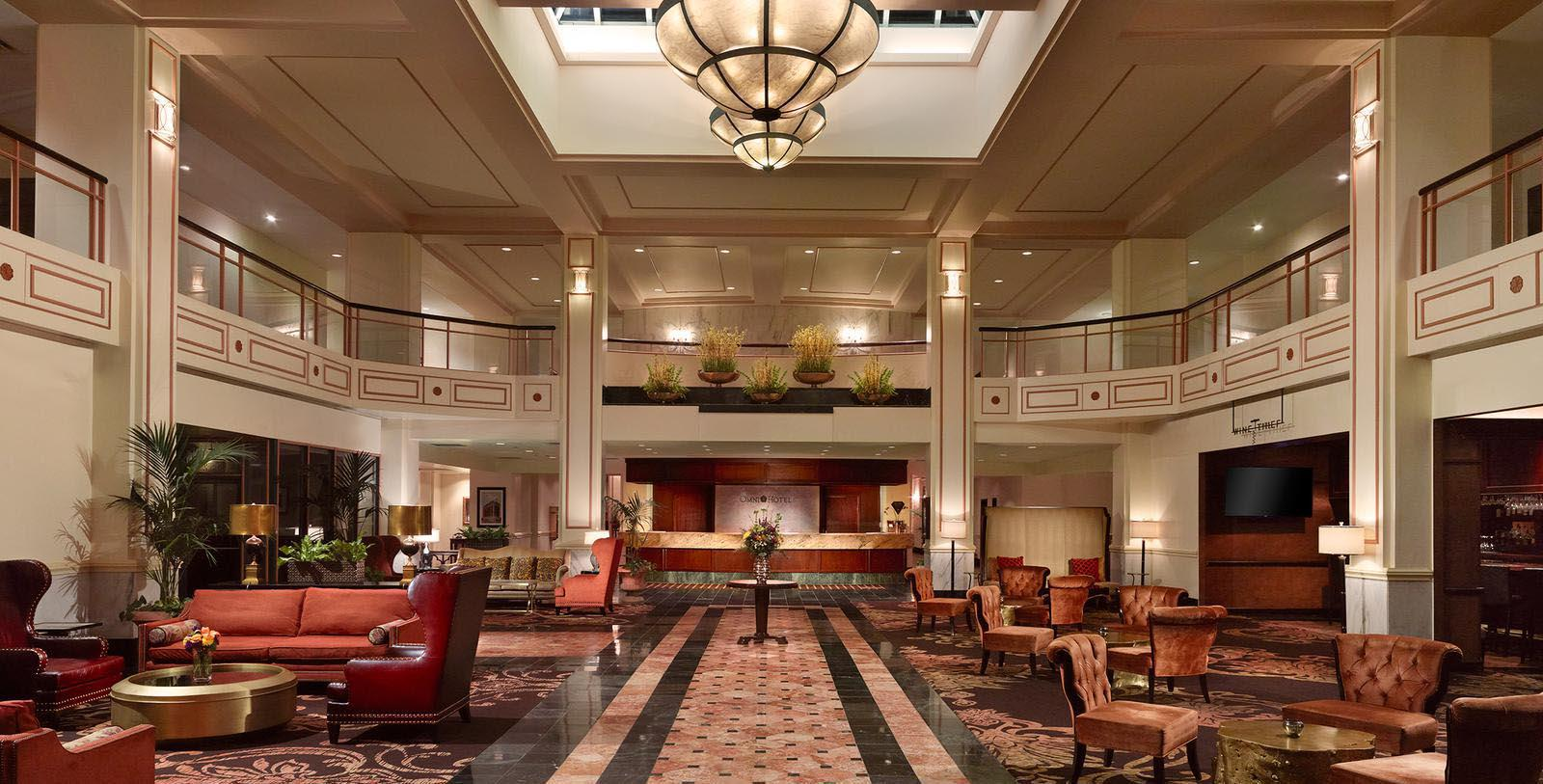 Image of Lobby Seating, Omni Severin Hotel, Indianapolis, Indiana, 1913, Member of Historic Hotels of America, Discover
