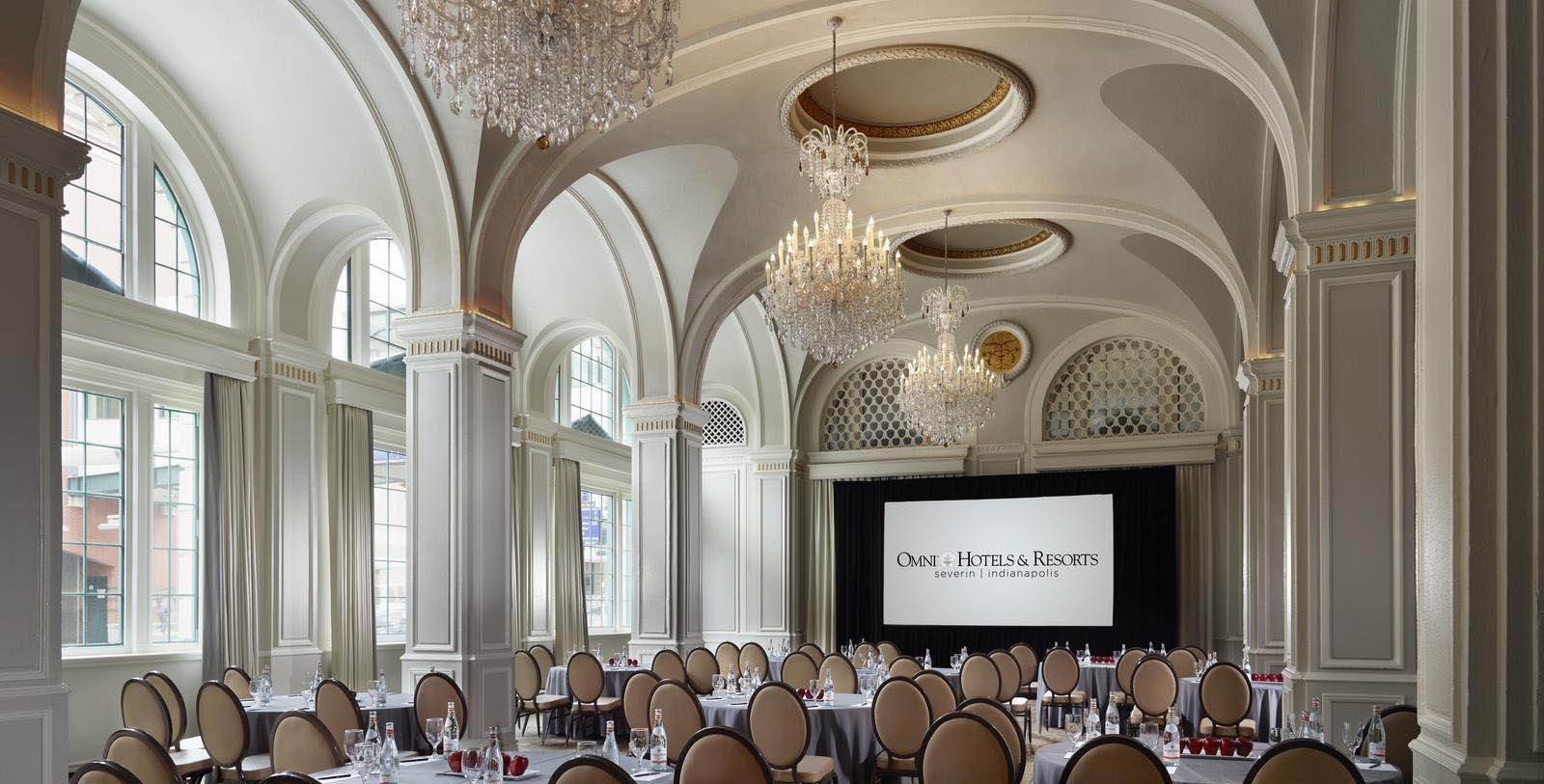 Image of Severin Ballroom, Omni Severin Hotel, Indianapolis, Indiana, 1913, Member of Historic Hotels of America, Experience