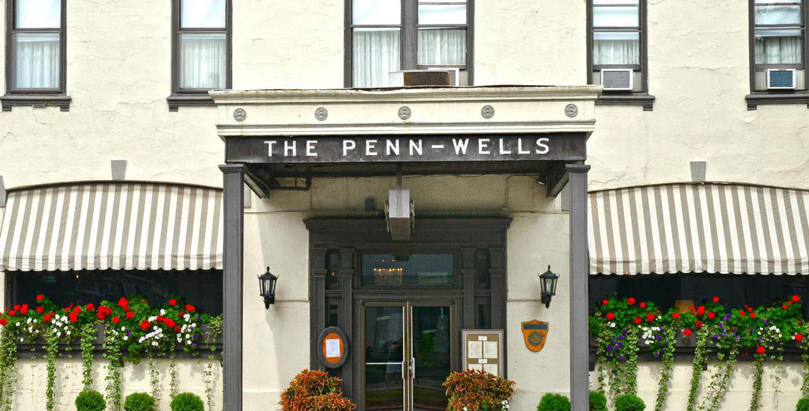 Image of Hotel Entrance at Penn Wells Hotel, 1869, Member of Historic Hotels of America, in Wellsboro, Pennsylvania, Discover