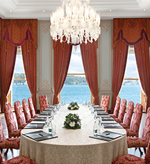 Meetings at      Ciragan Palace Kempinski  in Istanbul