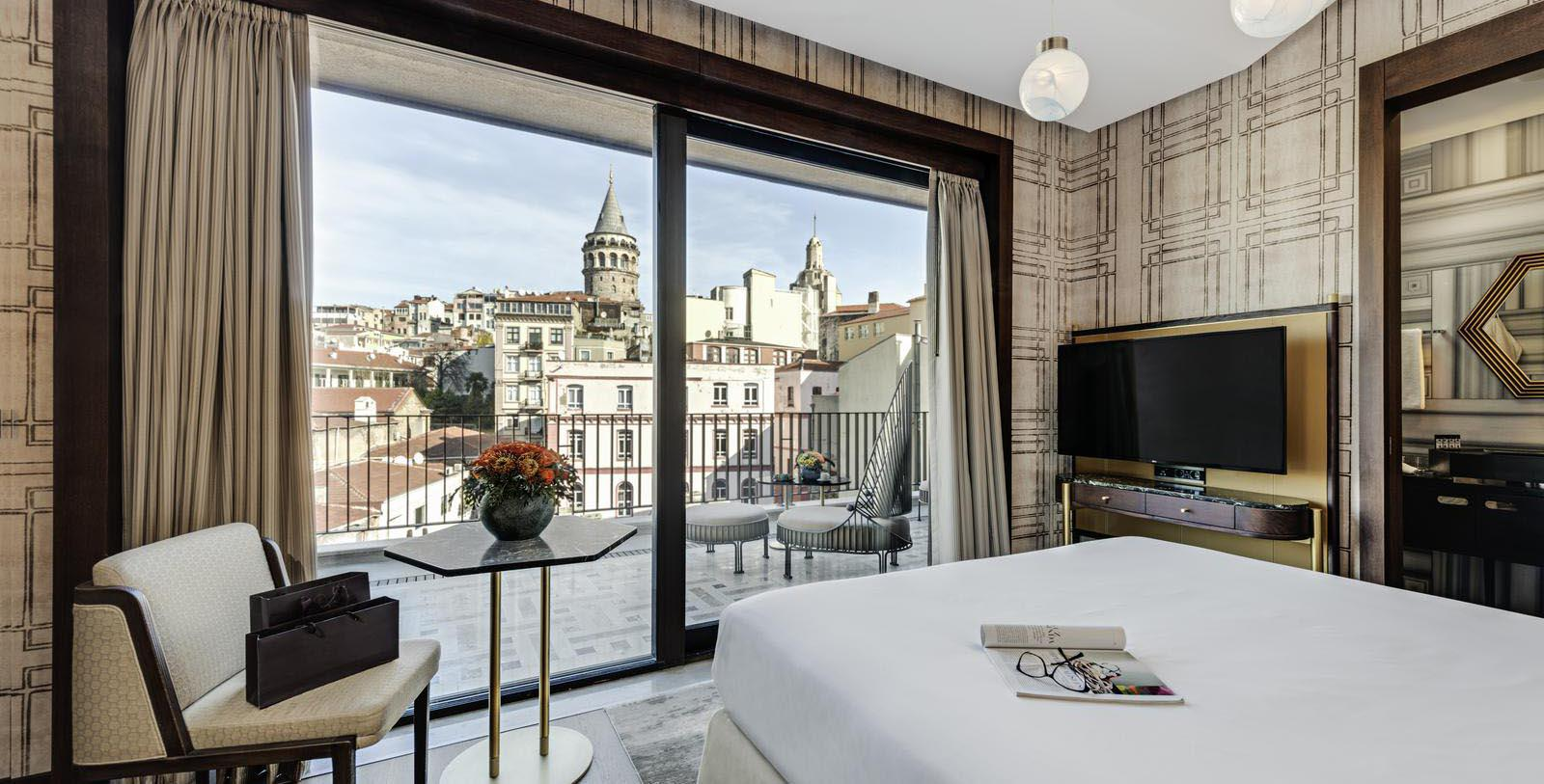 Image of Guestroom at The Galata Istanbul Hotel - MGallery by Sofitel, 1720, Member of Historic Hotels Worldwide, in Istanbul, Turkey, Location Map