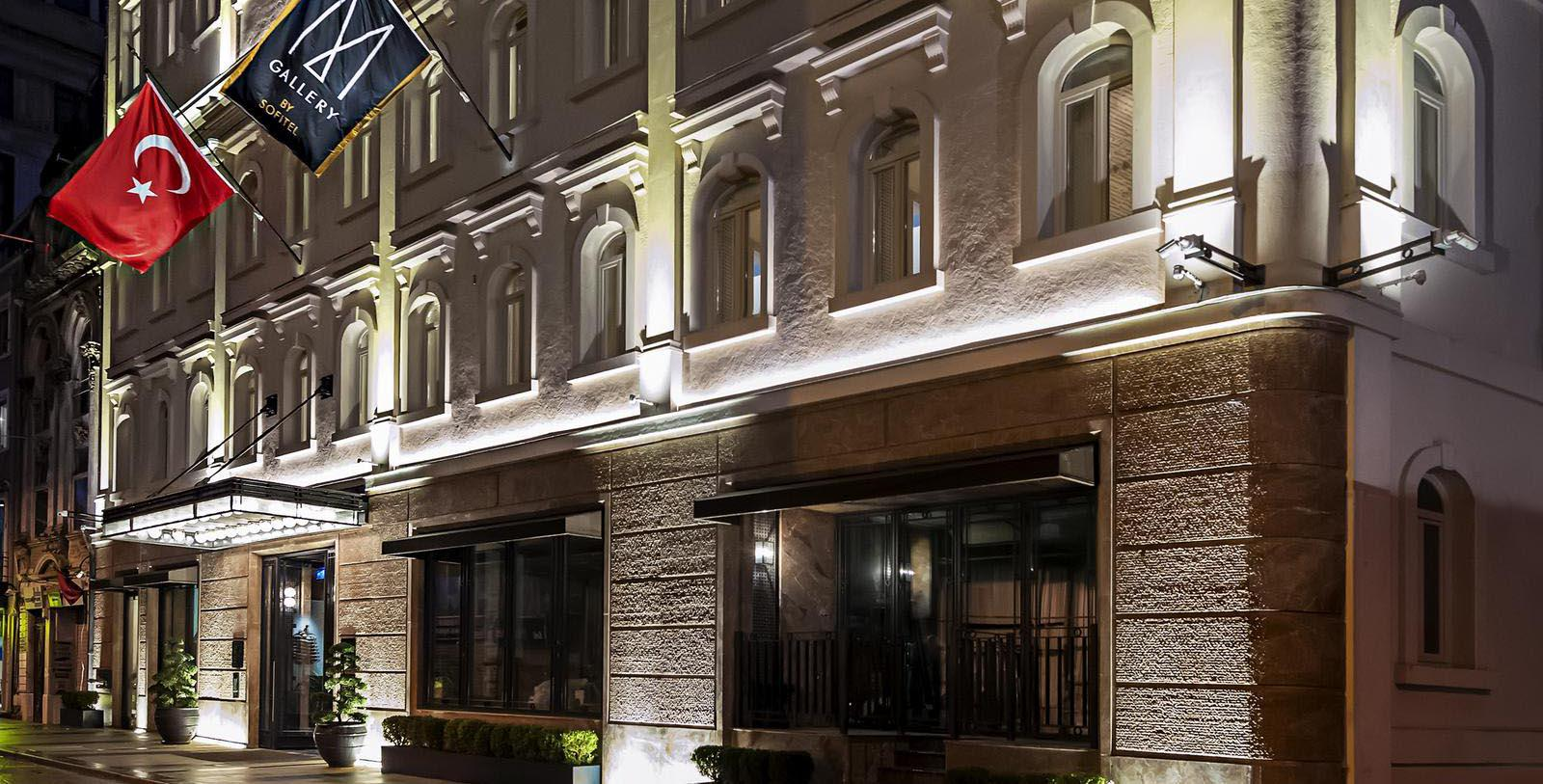 Image of Hotel Front Entrance at The Galata Istanbul Hotel - MGallery by Sofitel, 1720, Member of Historic Hotels Worldwide, in Istanbul, Turkey, Special Offers, Discounted Rates, Families, Romantic Escape, Honeymoons, Anniversaries, Reunions
