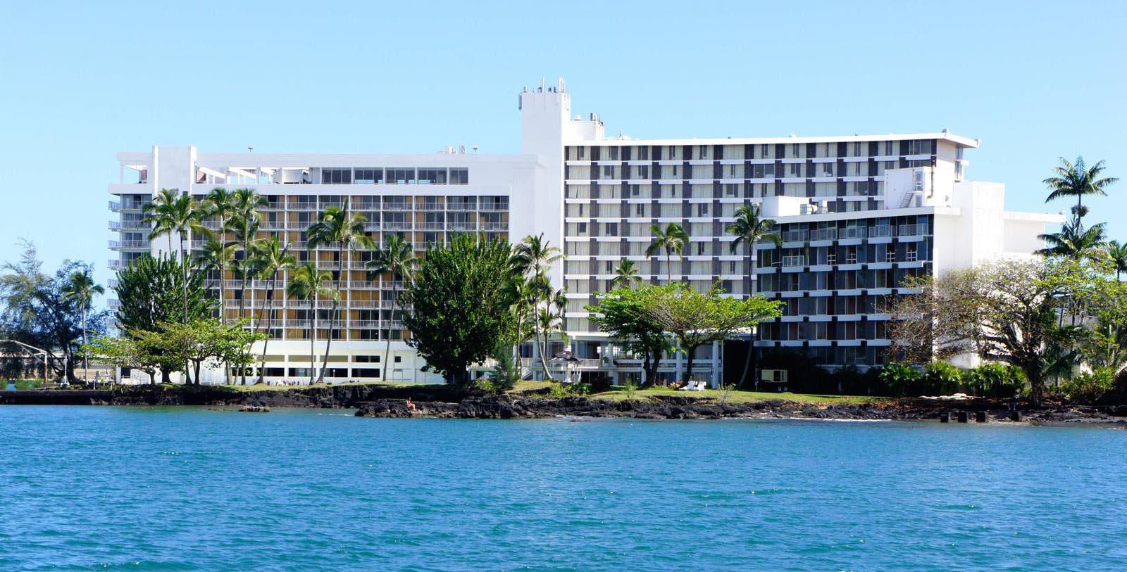 Image of hotel exterior at Grand Naniloa Hotel Hilo, a DoubleTree by Hilton, 1939, Member of Historic Hotels of America, in Hilo, Hawaii, Discover