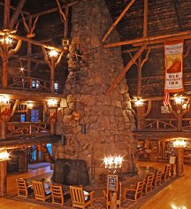 Accommodations:      Old Faithful Inn  in Yellowstone National Park