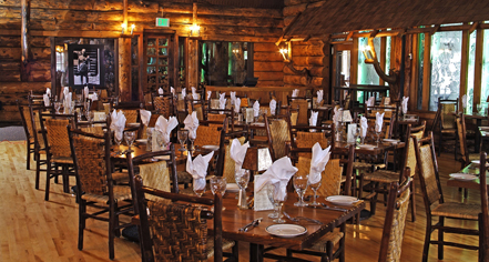 Dining at      Old Faithful Inn  in Yellowstone National Park