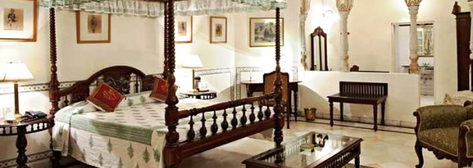 Accommodations:      Alsisar Haveli  in Jaipur