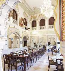 Dining at      Alsisar Haveli  in Jaipur