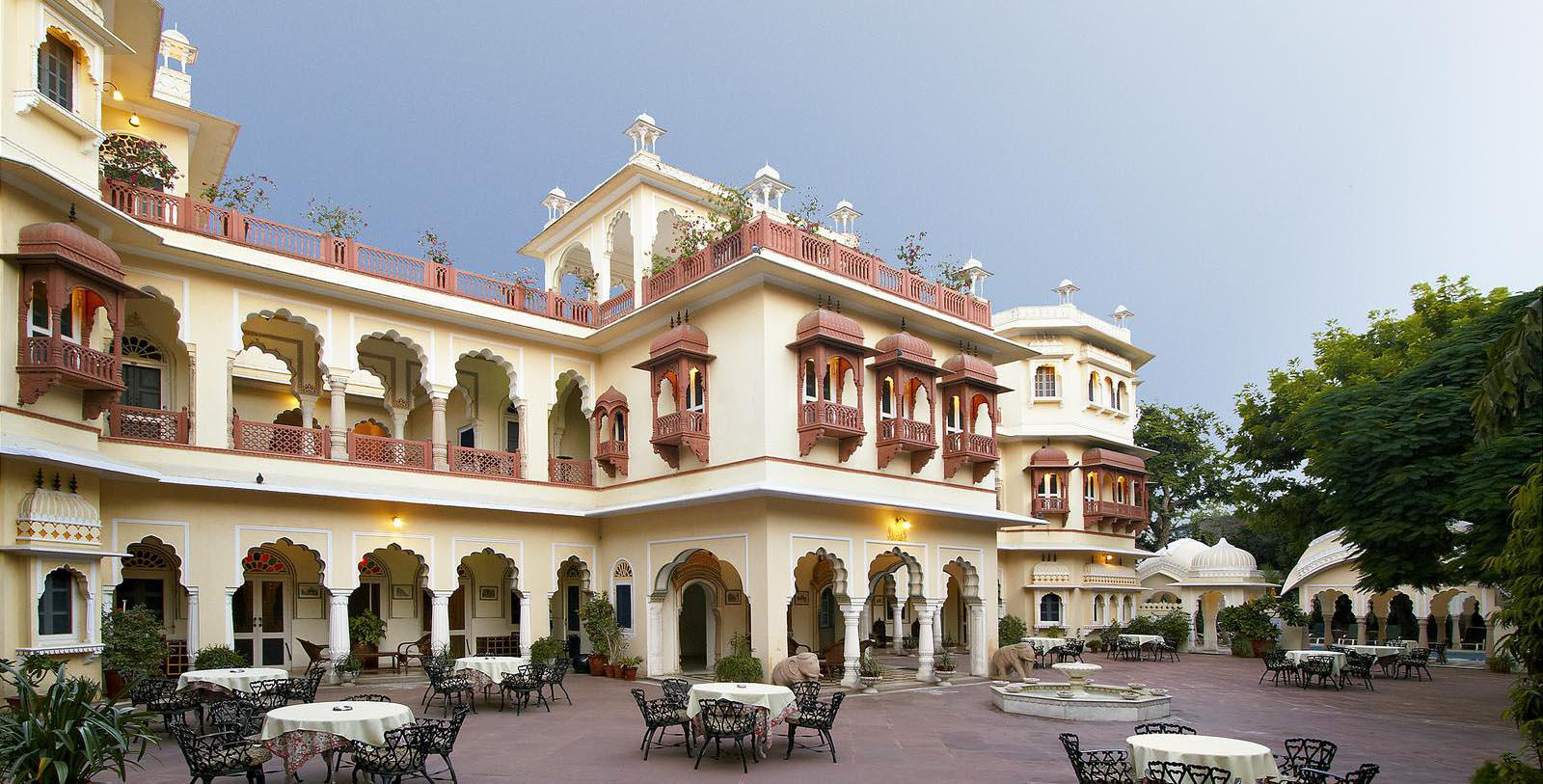 Image of hotel exterior Alsisar Haveli, 1892, Member of Historic Hotels Worldwide, in Jaipur, India, Special Offers, Discounted Rates, Families, Romantic Escape, Honeymoons, Anniversaries, Reunions