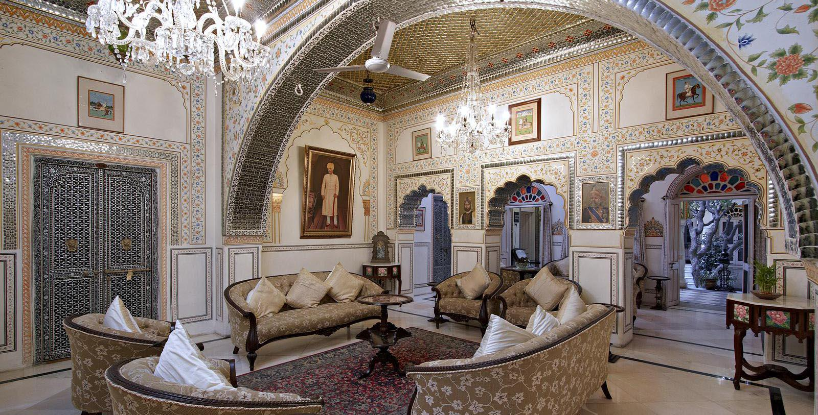 Image of lobby seating area at Alsisar Haveli, 1892, Member of Historic Hotels Worldwide, in Jaipur, India, Special Occasions
