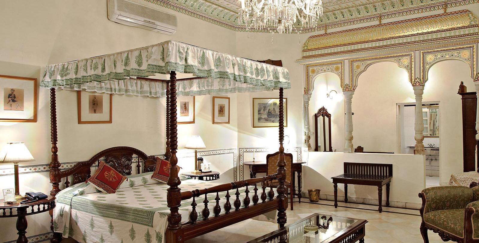 Image of guestroom Alsisar Haveli, 1892, Member of Historic Hotels Worldwide, in Jaipur, India, Accommodations