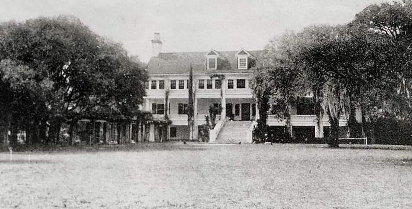historic image of hotel exterior Greyfield Inn, 1900, Member of Historic Hotels of America, in Cumberland Island, Georgia, Discover