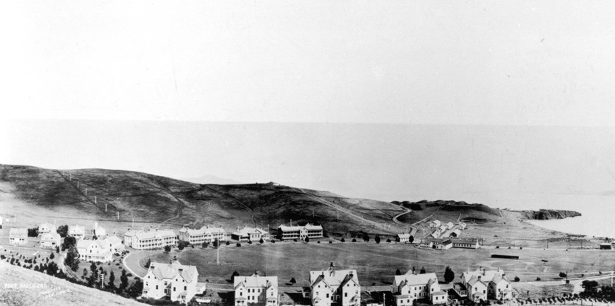 Historical Image of Fort Baker Landscape Circa 1910, Cavallo Point, 19091, Member of Historic Hotels of America, in San Francisco, California.