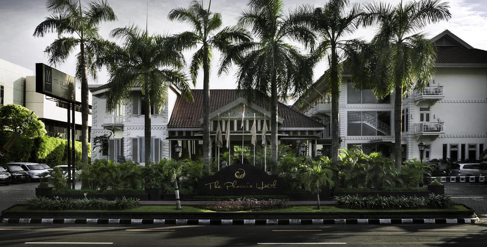 Image of Hotel Exterior The Phoenix Hotel Yogyakarta - MGallery by Sofitel, 1928, Member of Historic Hotels Worldwide, in Yogyakarta, Indonesia, Special Offers, Discounted Rates, Families, Romantic Escape, Honeymoons, Anniversaries, Reunions