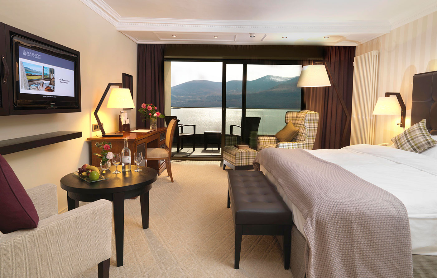 Accommodations:      The Europe Hotel & Resort  in Killarney