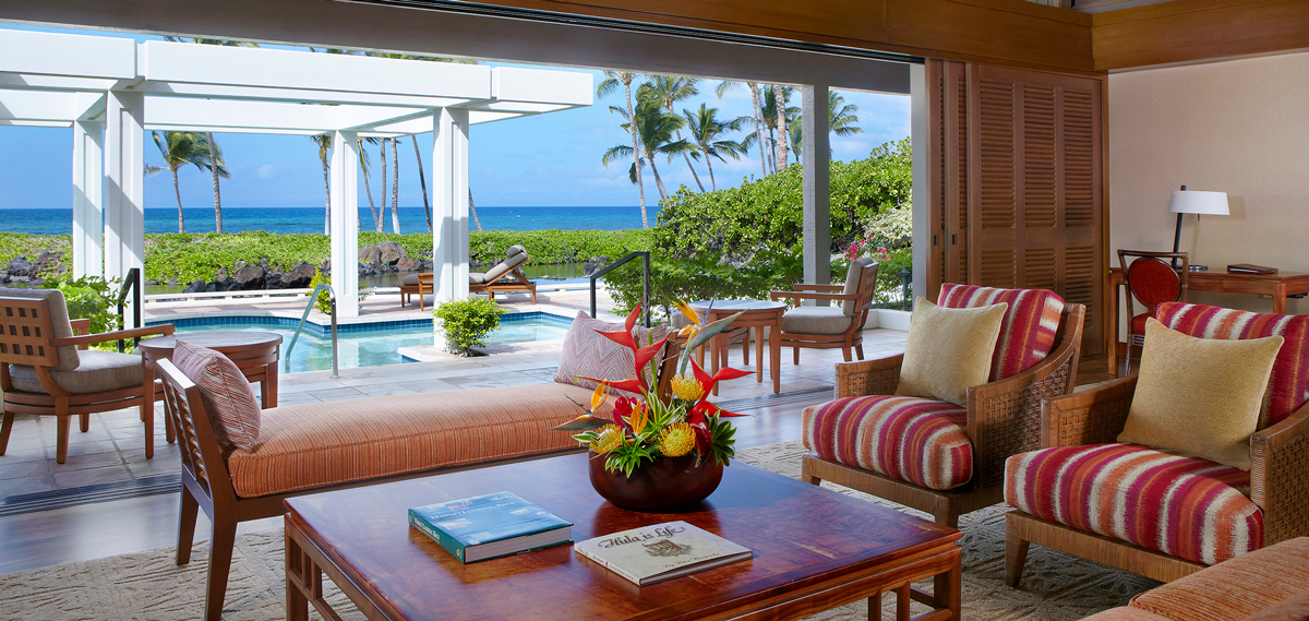 Accommodations:      Mauna Lani Bay Hotel & Bungalows  in Kohala Coast