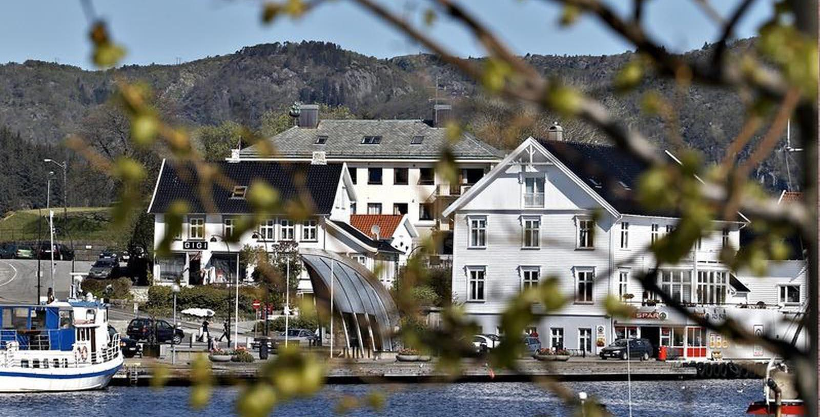 Image of Exterior View of Hotel Rederiet Hotell, 1958, Member of Historic Hotels Worldwide, in Farsund, Norway, Explore