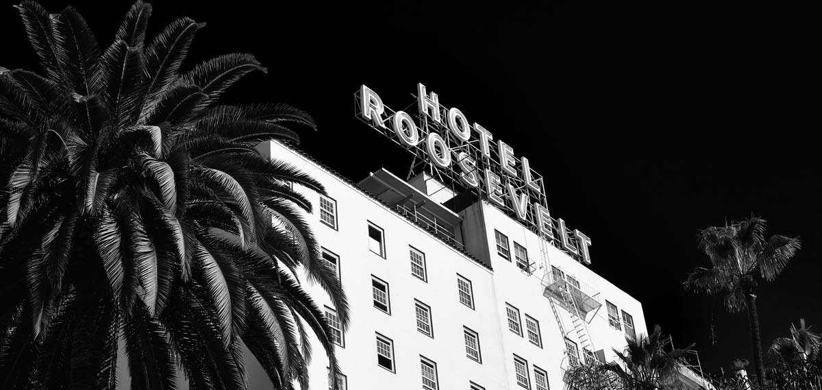 Historic Hollywood Roosevelt hotel in Los Angeles