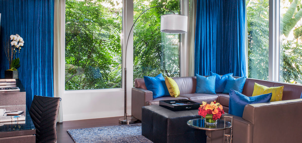 Accommodations:      The Sunset Marquis Hotel and Villas  in Los Angeles