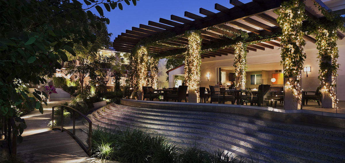 Dining:      The Sunset Marquis Hotel and Villas  in Los Angeles