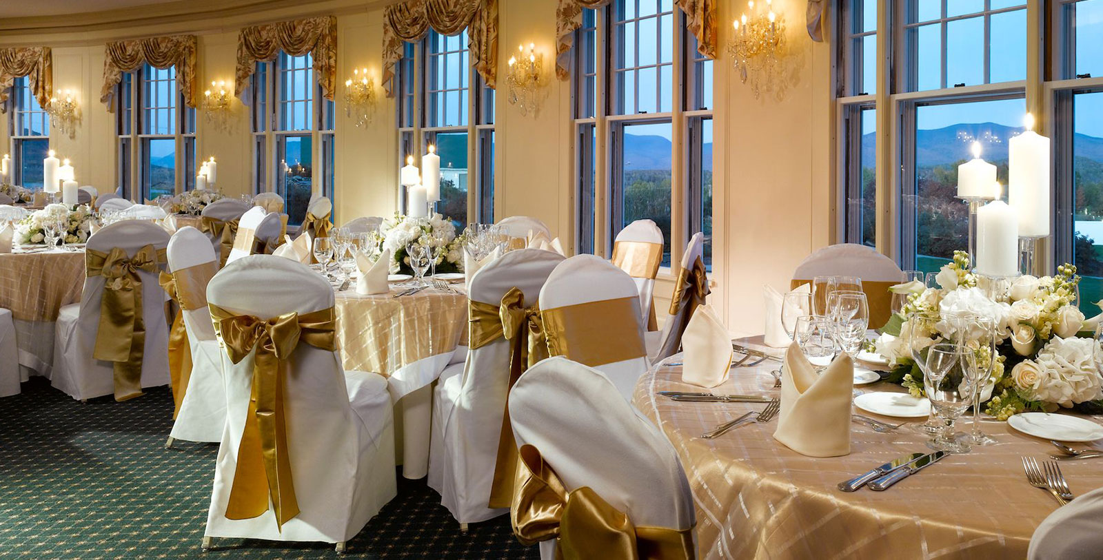 Image of Wedding Reception, Mountain View Grand Resort & Spa in Whitefield, New Hampshire, 1865, Member of Historic Hotels of America, Weddings