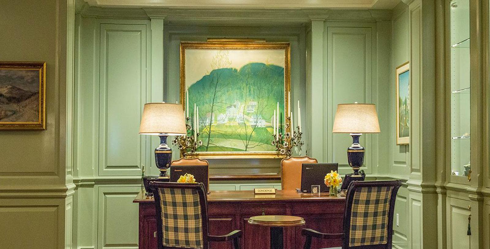 Image of Concierge Desk, Woodstock Inn & Resort, 1793, Member of Historic Hotels of America, in Woodstock, Vermont, Hot Deals