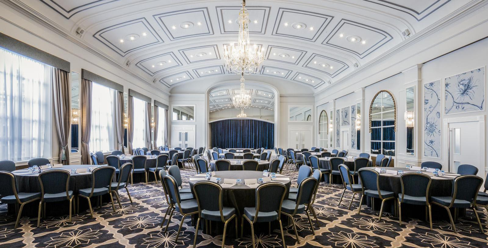 Image of ballroom set up for event Castle Hotel Windsor, 1528, Member of Historic Hotels Worldwide, in London, United Kingdom, Experience