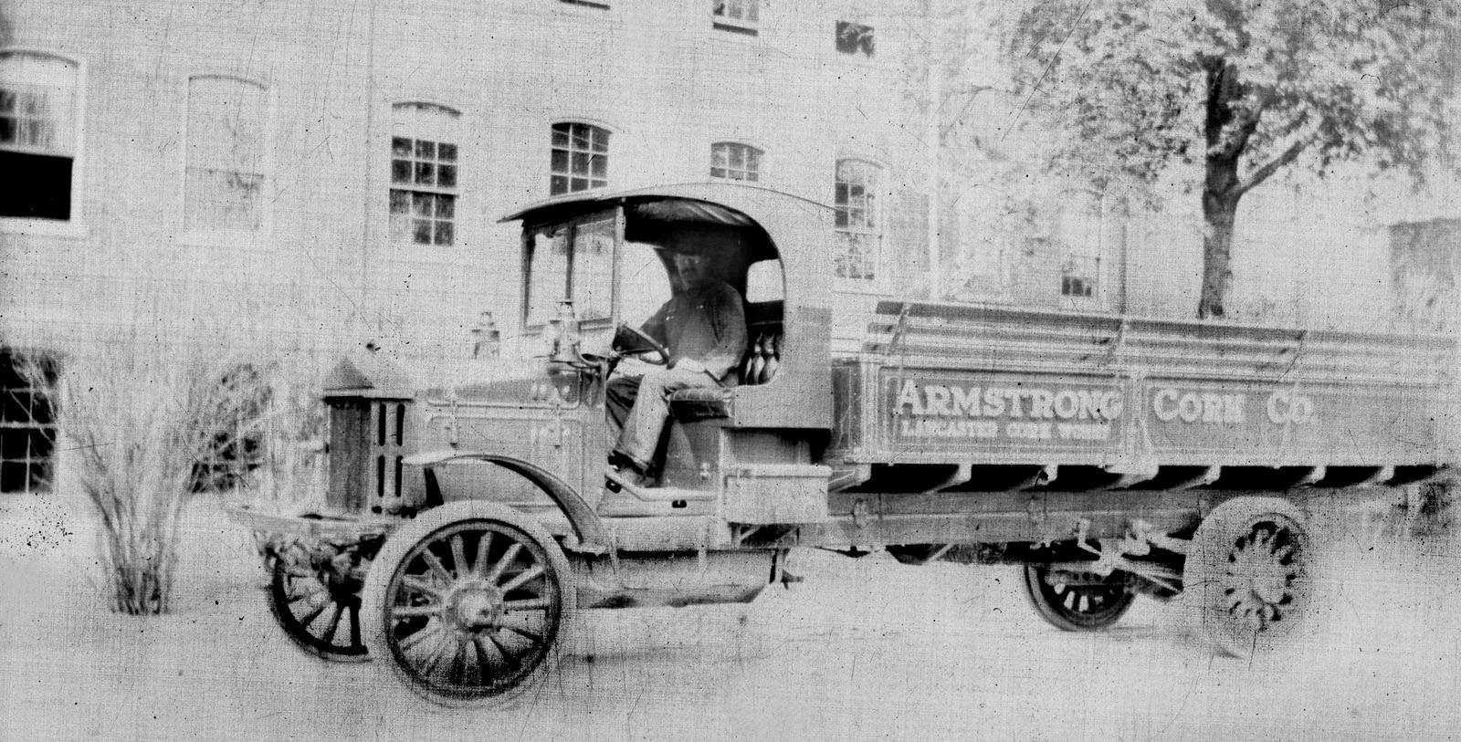 Historic image of truck driving by Cork Factory Hotel, 1865, Member of Historic Hotels of America, in Lancaster, Pennsylvania, Discover