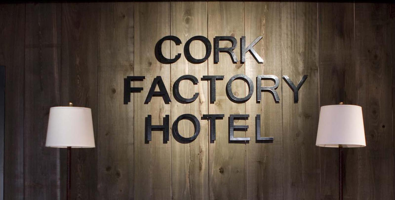 Image of hotel sign inside Cork Factory Hotel, 1865, Member of Historic Hotels of America, in Lancaster, Pennsylvania, Explore