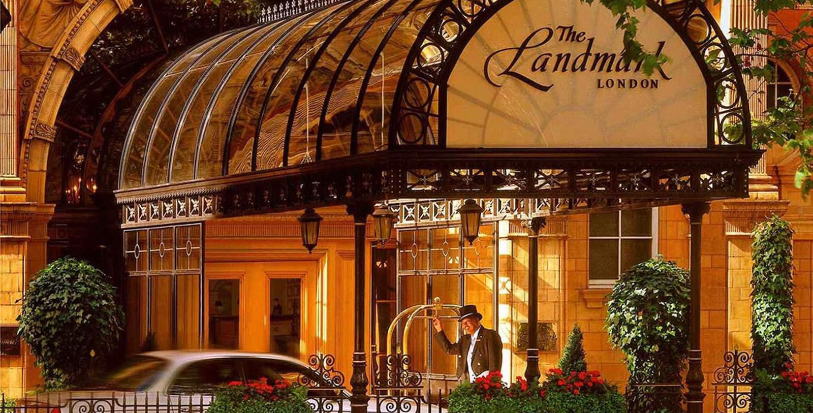 Image of Hotel Front Entrance at The Landmark London, 1899, Member of Historic Hotels Worldwide, in London, England, United Kingdom, OverviewImage of Hotel Exterior The Landmark London, 1899, Member of Historic Hotels Worldwide, in London, England, United Kingdom, Special Offers, Discounted Rates, Families, Romantic Escape, Honeymoons, Anniversaries, Reunions