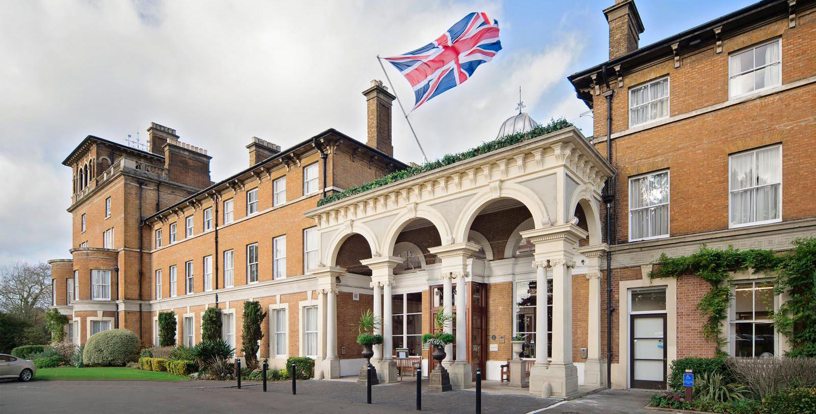 Image of Hotel Entrance Oatlands Park Hotel, 1856, Member of Historic Hotels Worldwide, in Weybridge, England, Overview