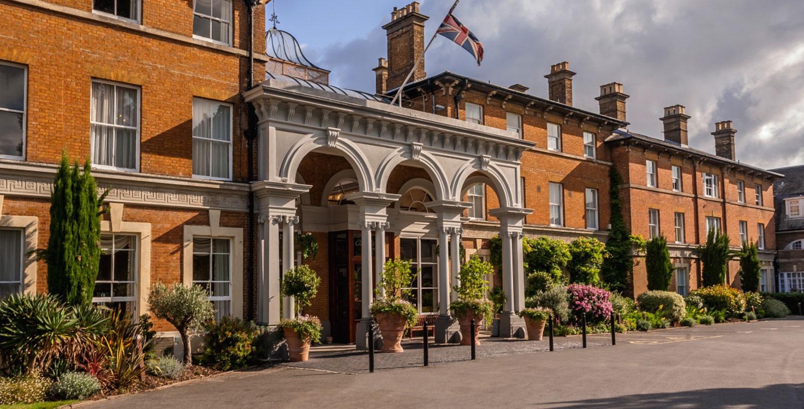 Image of Hotel Entrance Oatlands Park Hotel, 1856, Member of Historic Hotels Worldwide, in Weybridge, England, Overview