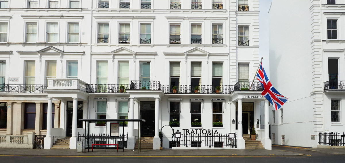 The Pelham Hotel, London UK, Front Facade