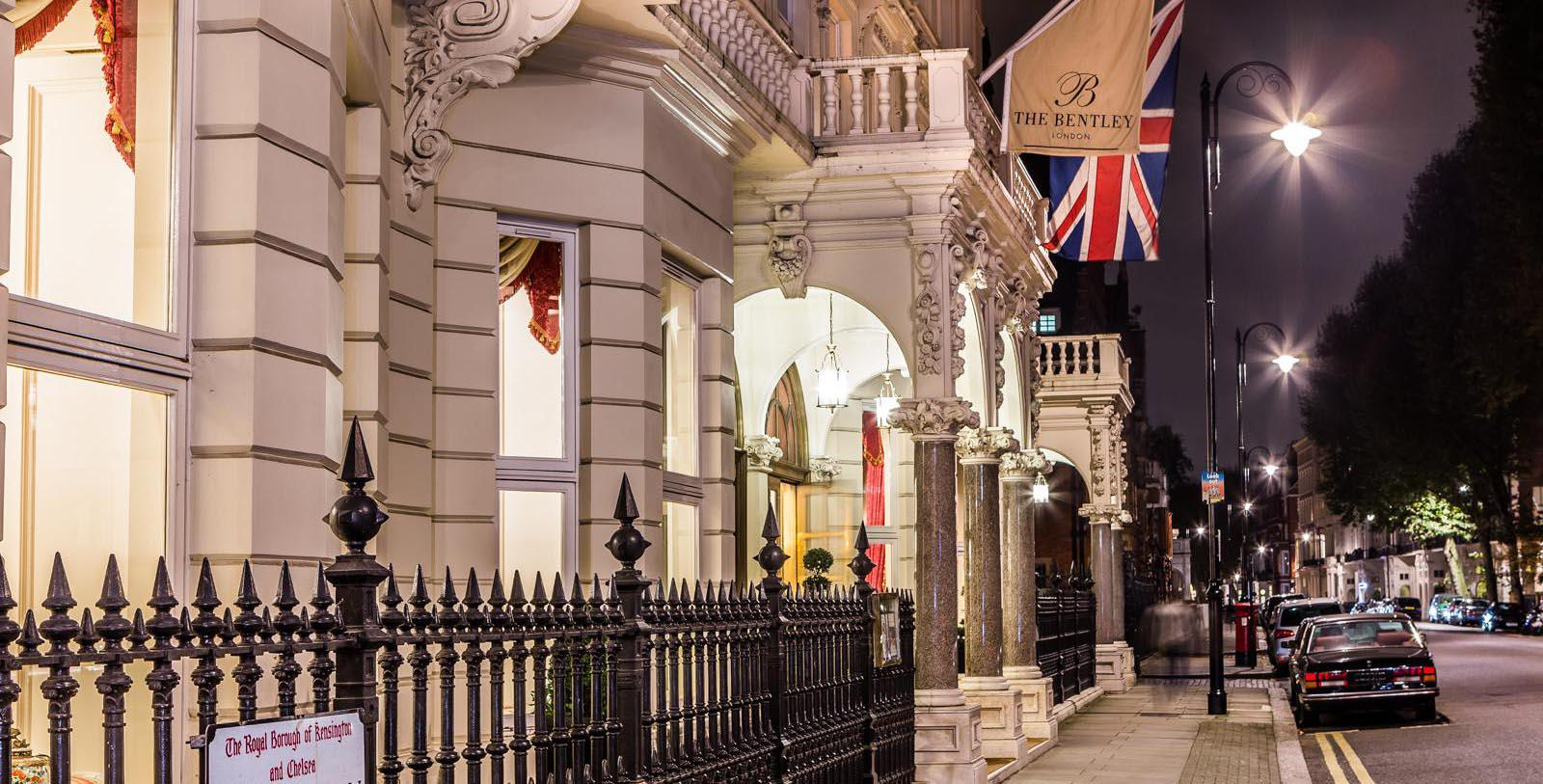 Image of Hotel Front Entrance at The Bentley London, 1880, Member of Historic Hotels Worldwide, in London, England, United Kingdom, Special Offers, Discounted Rates, Families, Romantic Escape, Honeymoons, Anniversaries, Reunions