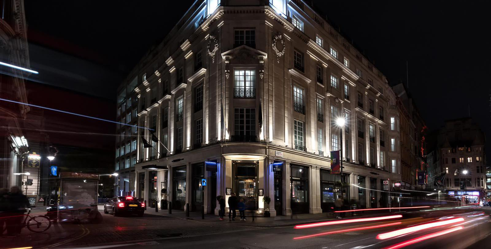 Image of Hotel Exterior The Trafalgar St. James London, Curio Collection by Hilton, 18th Century, Member of Historic Hotels Worldwide, in London, England, United Kingdom, Special Offers, Discounted Rates, Families, Romantic Escape, Honeymoons, Anniversaries, Reunions